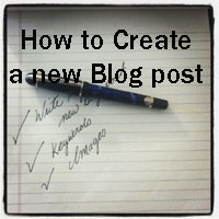 Write new blog post copy