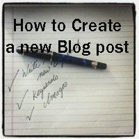 Write new blog post copy